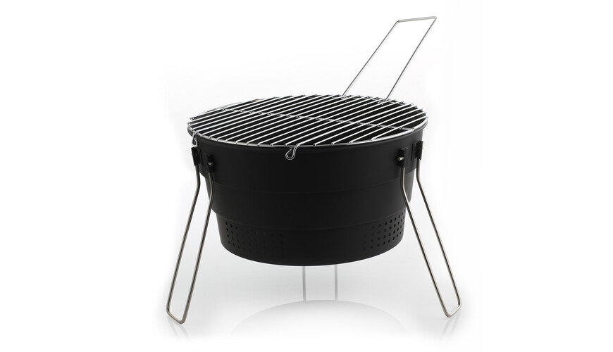 Relags Pop Up Grill houtskoolgrill zwart